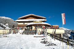 Christler Alm Panoramaterrasse im Winter